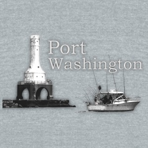 Port Washington Merch Bottles & Mugs - Unisex Tri-Blend T-Shirt by American Apparel