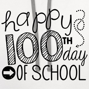 happy 100th day of school Women's T-Shirts - Contrast Hoodie