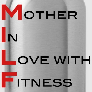 Milf Mother In Love With Fitness  Tanks - Water Bottle