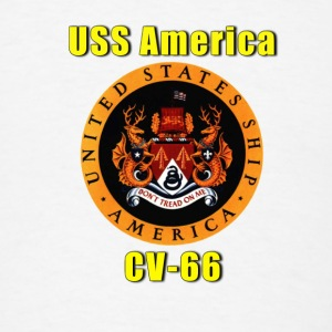 USS America CV-66 Thermal Travel Mug - Men's T-Shirt