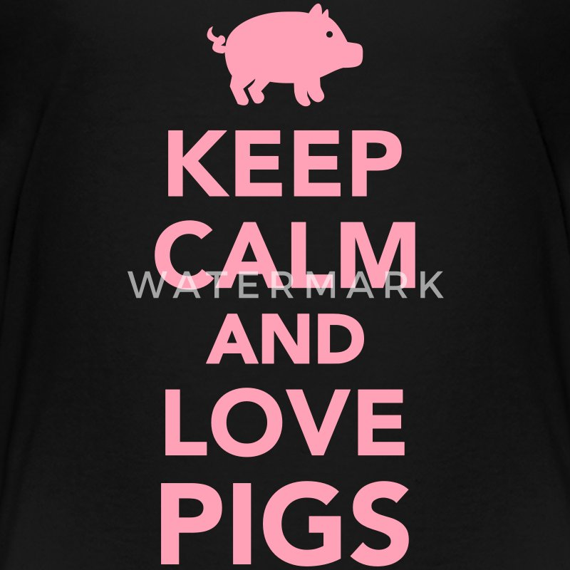 Keep calm and love Pigs Kids' Shirts - Kids' Premium T-Shirt