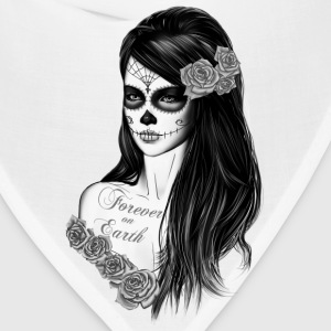 La Catrina Black white Women's T-Shirts - Bandana