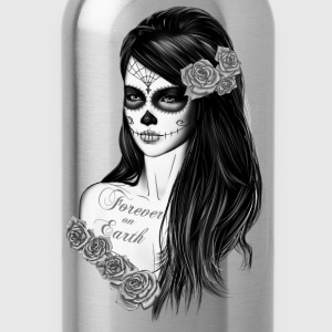 La Catrina Black white Women's T-Shirts - Water Bottle