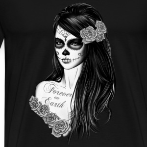 La Catrina Black white Tanks - Men's Premium T-Shirt
