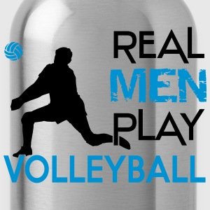 Real men play Volleyball  Long Sleeve Shirts - Water Bottle