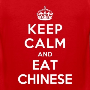 Keep Calm and Eat Chinese T-Shirts - Men's Premium Tank