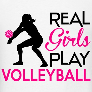 Real girls play volleyball Hoodies - Men's T-Shirt