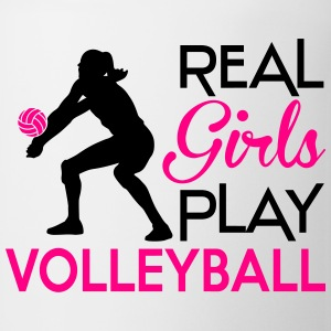 Real girls play volleyball Hoodies - Coffee/Tea Mug