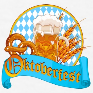 Oktoberfest blue logo - Men's T-Shirt