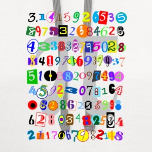 Colorful and Fun Depiction of Pi Calculated - Contrast Hoodie