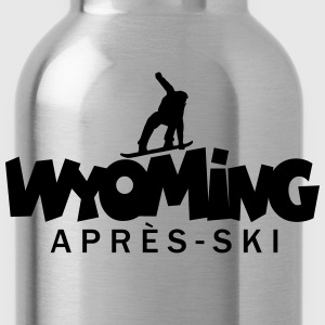 Wyoming Après-Ski Snowbord T-Shirts (Women Grey)  - Water Bottle