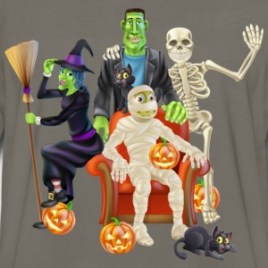 halloween characters - Men's Premium Long Sleeve T-Shirt