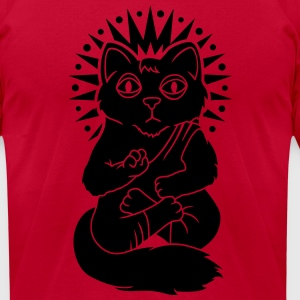 Сat monk T-Shirts - Men's T-Shirt by American Apparel
