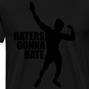 Long Sleeve T-Shirt Zyzz Haters Gonna Hate - Men's Premium T-Shirt