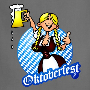 Oktoberfest - girl in a dirndl T-Shirts - Adjustable Apron
