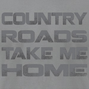 Country Roads Take Me Home Long Sleeve Shirts - Men's T-Shirt by American Apparel