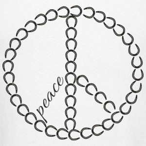 Peace - Horseshoe Hoodies - Men's T-Shirt