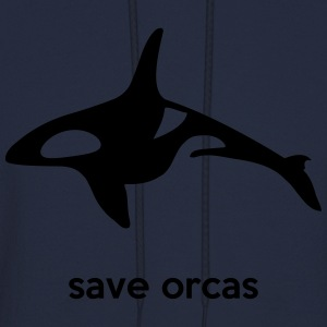 save orcas Long Sleeve Shirts - Men's Hoodie