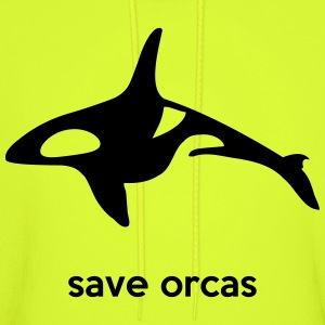 save orcas T-Shirts - Men's Hoodie