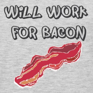 Working for bacon T-Shirts - Men's Premium Long Sleeve T-Shirt