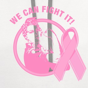 Rosie We Can Fight It Women's T-Shirts - Contrast Hoodie