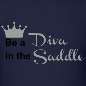 Be a Diva in the Saddle Long Sleeve Shirts - Men's T-Shirt