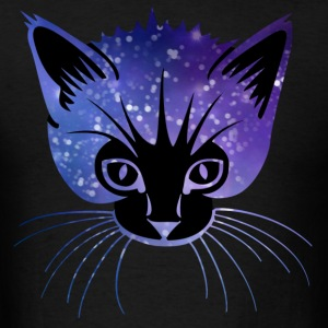 Galaxy Cat Head Hoodies - Men's T-Shirt
