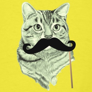 Cute Cat with Mustache Baby   - Men's T-Shirt