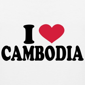 I Love Cambodia T-Shirts - Men's Premium Tank