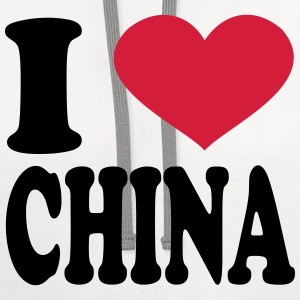 I Love China T-Shirts - Contrast Hoodie