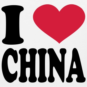 I Love China T-Shirts - Men's Premium Tank