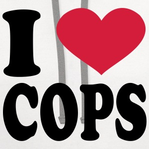 I Love Cops T-Shirts - Contrast Hoodie