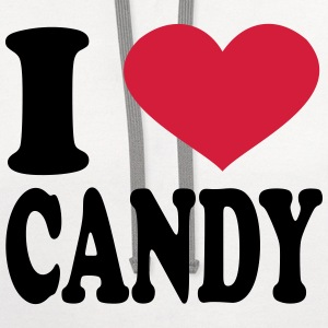 I Love Candy T-Shirts - Contrast Hoodie