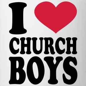 I Love Church Boys T-Shirts - Coffee/Tea Mug