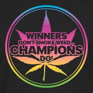 Winners Don't Smoke Weed... (Rainbow) Women's T-Shirts - Men's Premium Long Sleeve T-Shirt