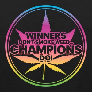 Winners Don't Smoke Weed... (Rainbow) Women's T-Shirts - Men's Premium Tank