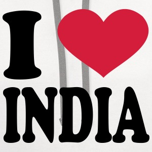 I Love India T-Shirts - Contrast Hoodie