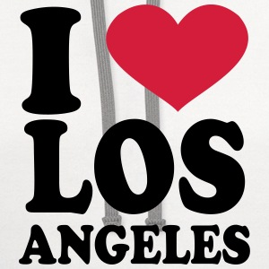 I Love Los Angeles T-Shirts - Contrast Hoodie