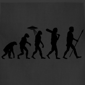 Alien Evolution (1 Color) T-Shirts - Adjustable Apron