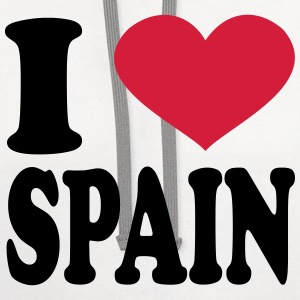 I Love spain T-Shirts - Contrast Hoodie
