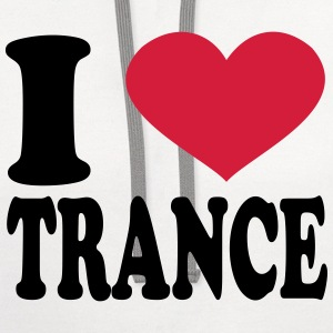 I Love Trance T-Shirts - Contrast Hoodie