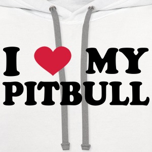 I Love My pitbull T-Shirts - Contrast Hoodie