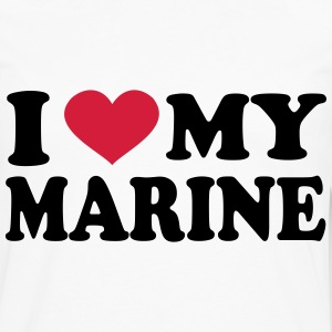 I Love My marine T-Shirts - Men's Premium Long Sleeve T-Shirt