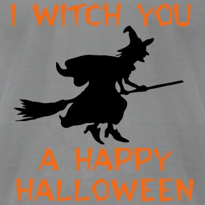 I Witch You A Happy Halloween. Happy Halloween Long Sleeve Shirts - Men's T-Shirt by American Apparel