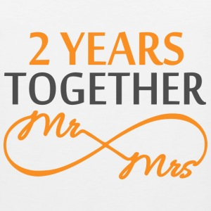 Mr & Mrs Infinite 2 Years T-Shirts - Men's Premium Tank