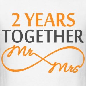 Mr & Mrs Infinite 2 Years Hoodies - Men's T-Shirt