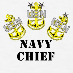 Navy Chief Coffee Cup - Men's T-Shirt
