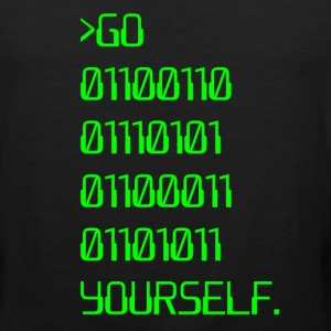 Go ( Binary Curse Word ) Yourself T-Shirts - Men's Premium Tank