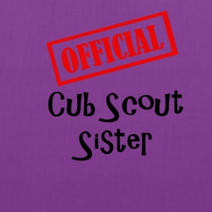 Official Cub Scout Sister Shirt - Tote Bag