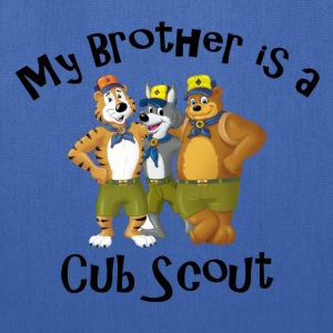 Boy's My Brother is a Cub Scout Shirt - Tote Bag